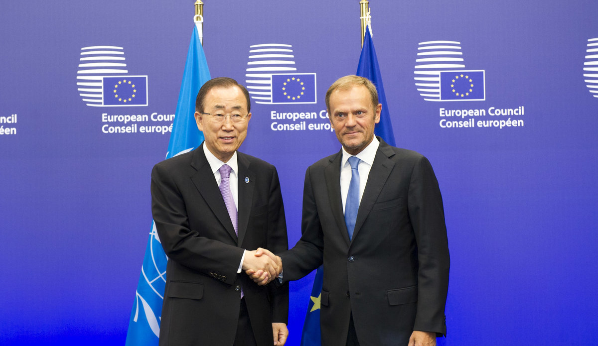 UNSG Ban Ki-moon and President of the European Commission Donald Tusk