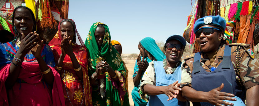 United Nations Peacekeepers with Sudanese nomads